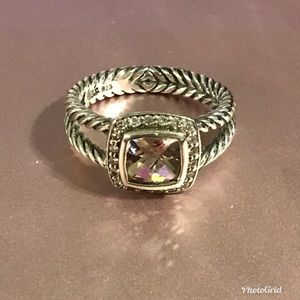 David Yurman Petite Albion Ring Pale Morganite